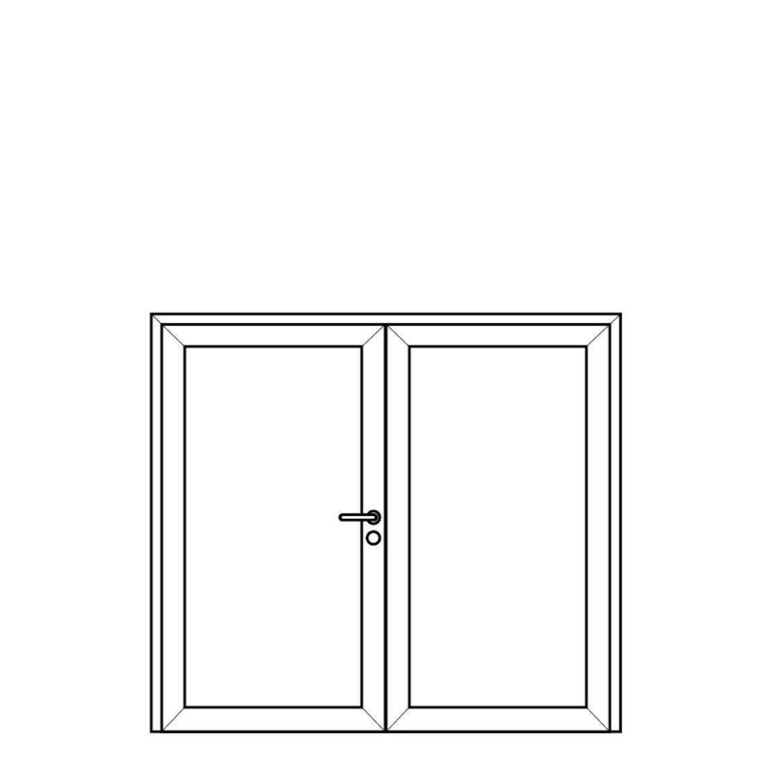 NorDan Alu Door Config Double
