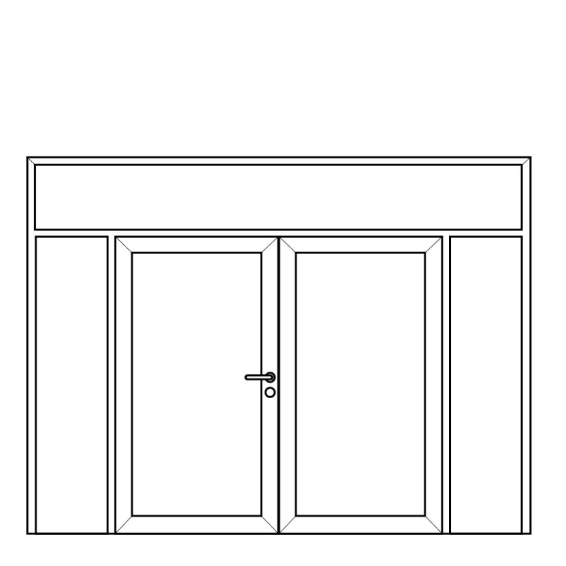 NorDan Alu Door Config Fixed Double fixed