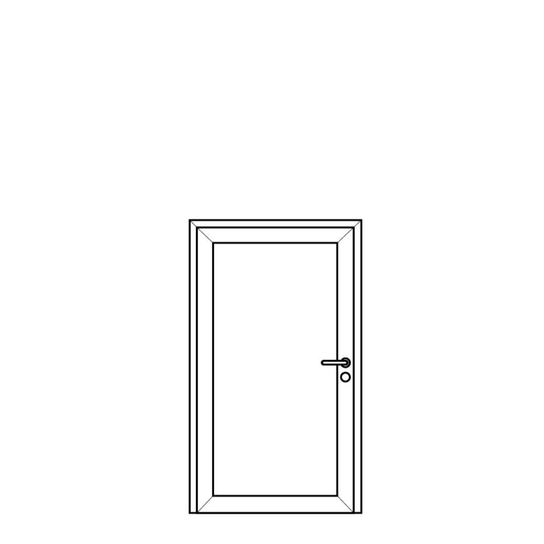 NorDan Alu Door Config Single