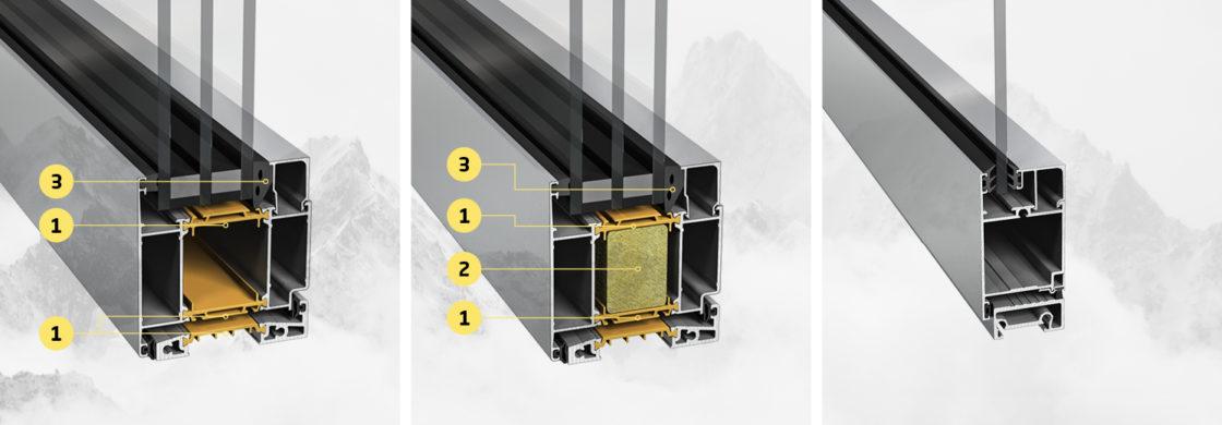 NorDan Aluminium door insulation