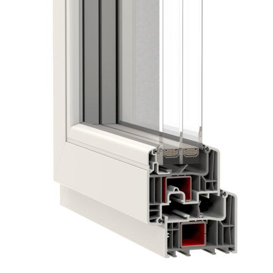 NorDan u PVC Window Corner E Passive