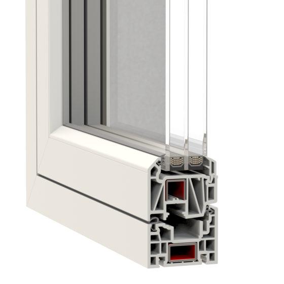 NorDan u PVC Window Corner Elegant