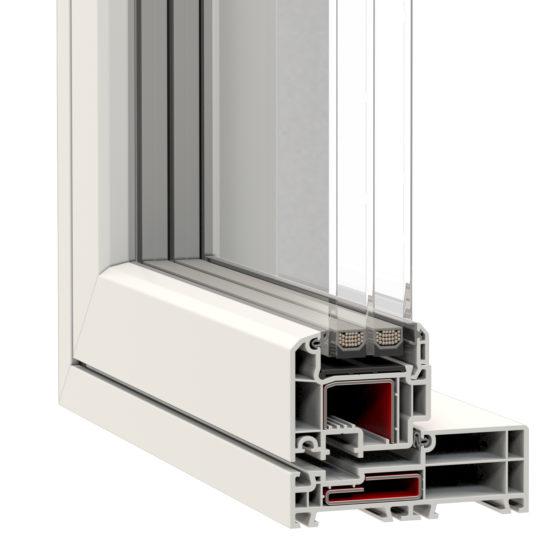 NorDan u PVC Window Corner Nordline