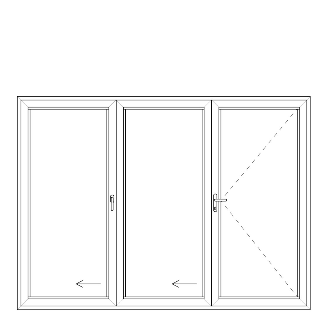 NorDan upvc door config 321