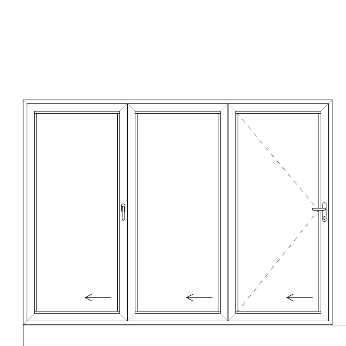 NorDan upvc door config 303