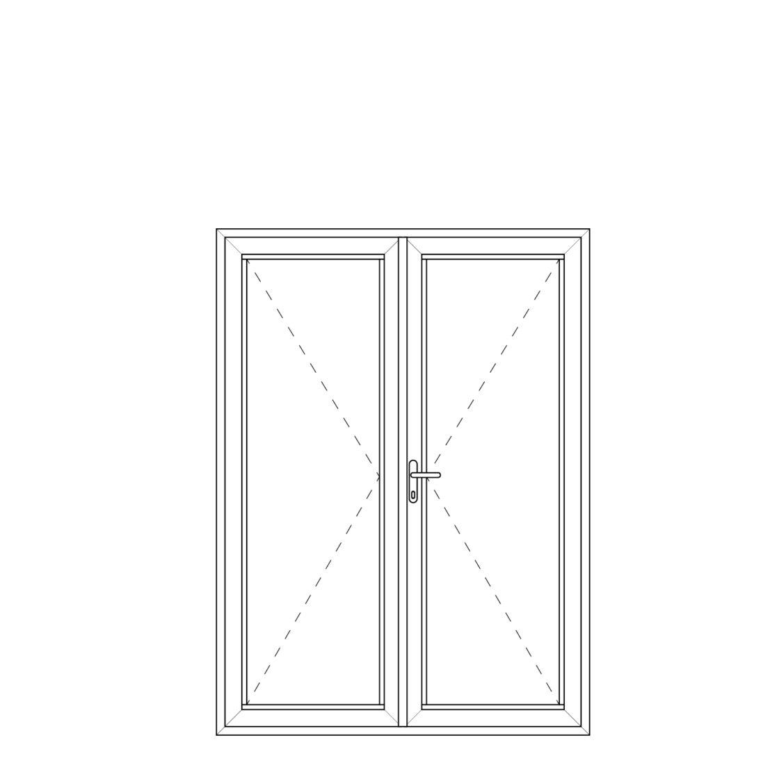 NorDan upvc door config Doubledoor