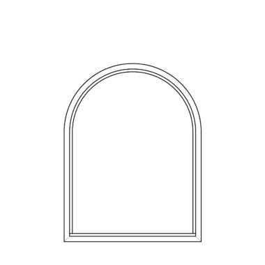 Arched fixed frame