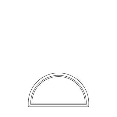 Semicircle fixed frame