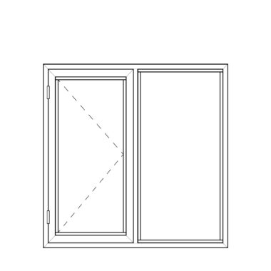 Side Hungfixed frame